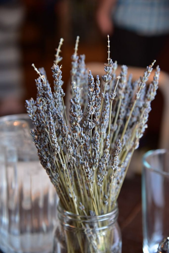 Fresh lavender centerpiece