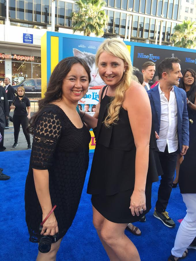 Shelby and Tee at the Nine Lives Premiere