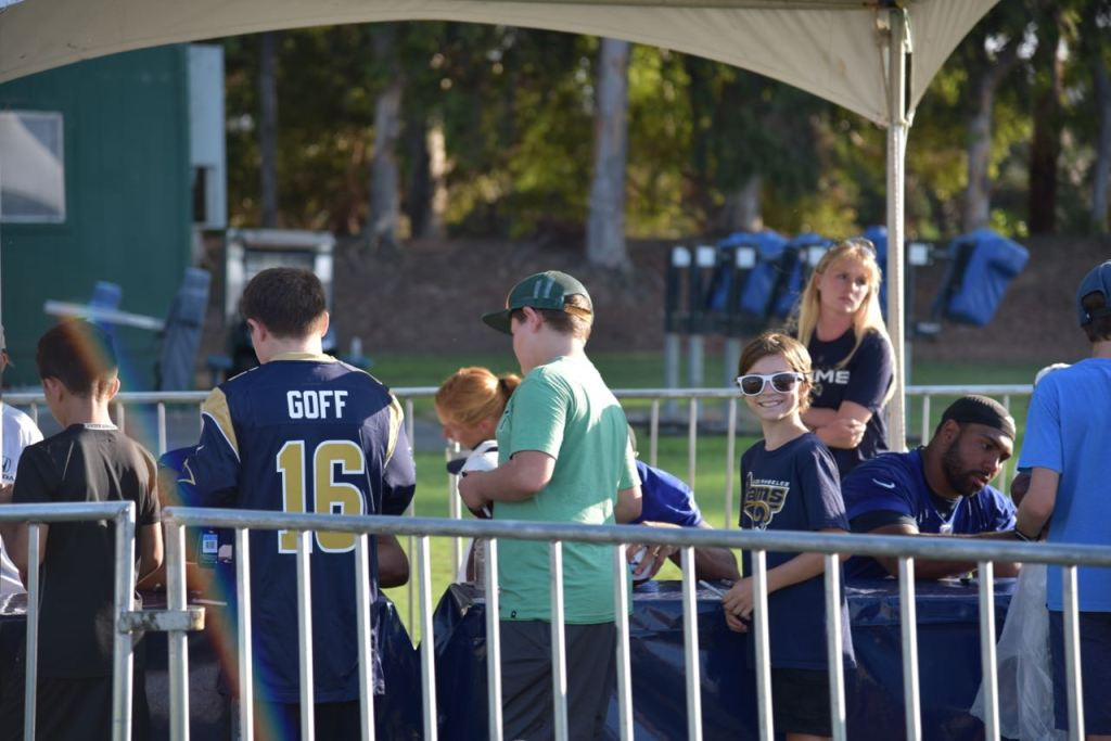 Waiting for Rams Autographs