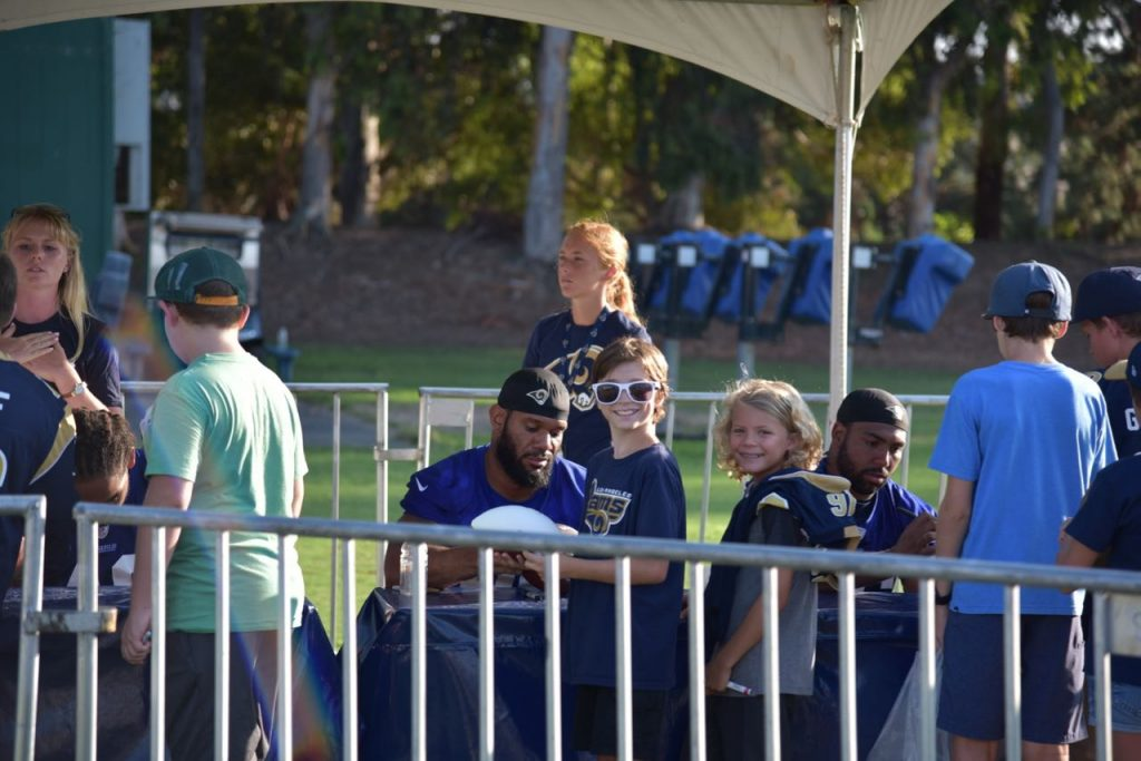 Waiting to meet the Rams