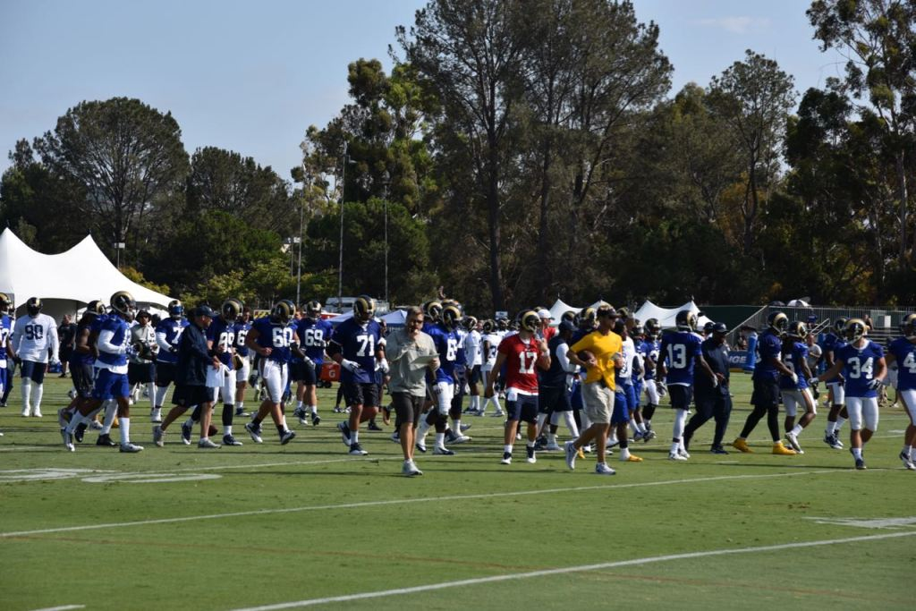 Watching the Rams Train
