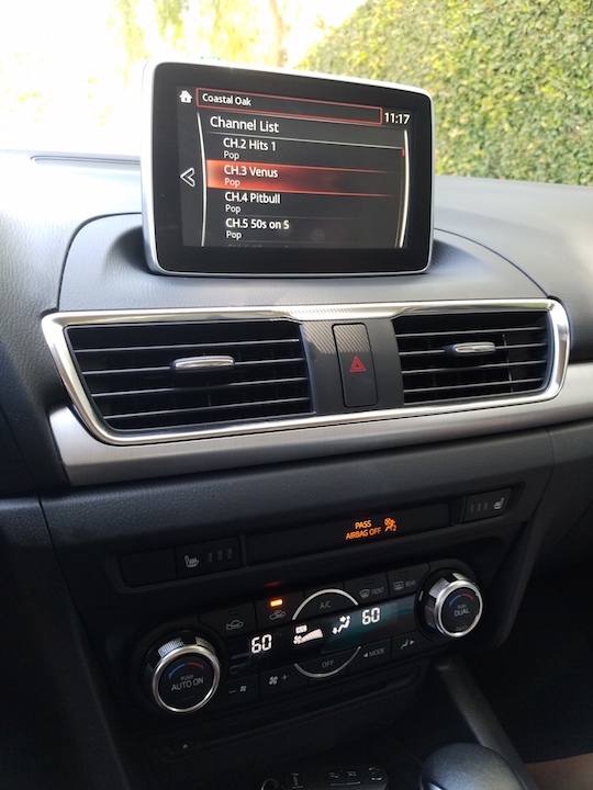 navigation on the Mazda3