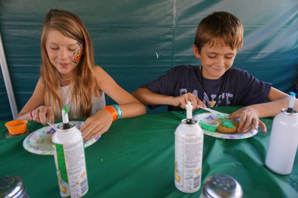 Cookie decorating at the Irvine Park Railroad Pumpkin Patch