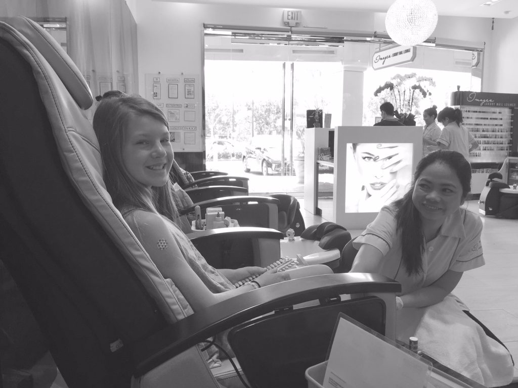 Mother Daughter Manicures at Images in Irvine