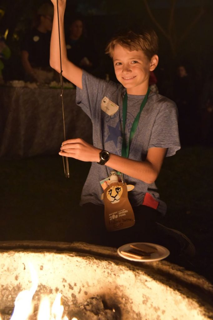 making-smores-at-the-san-diego-zoo-sleepover