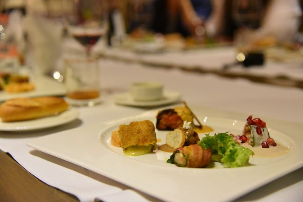 Dining at Almara restaurant