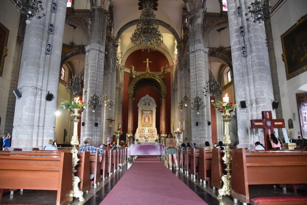 Entering the Old Basilica of Our Lady of Guadalupe
