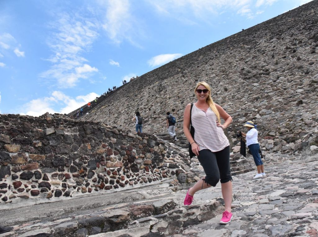 Getting ready to hike to the top of the Pyramid of the Sun