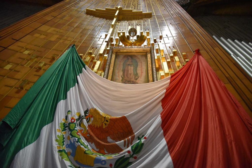 Juan Diego's Cloak with image of Our Lady of Guadalupe