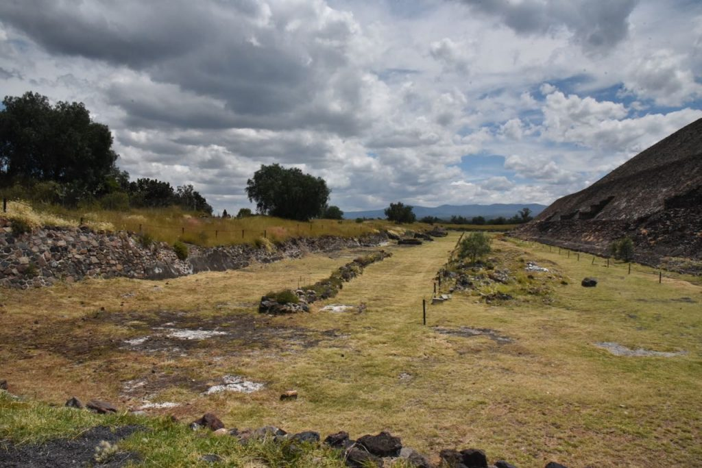 Looking at Ruins in Teotihuacan