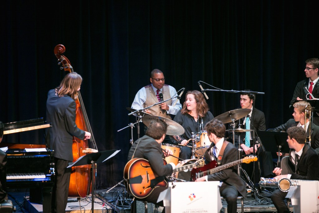 Wynton Marsalis teaching kids at OCSA