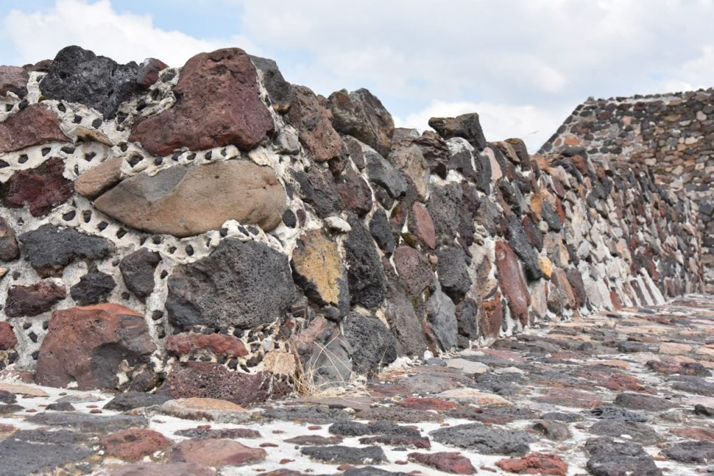 Rocks used to build the Pyramid of the Sun