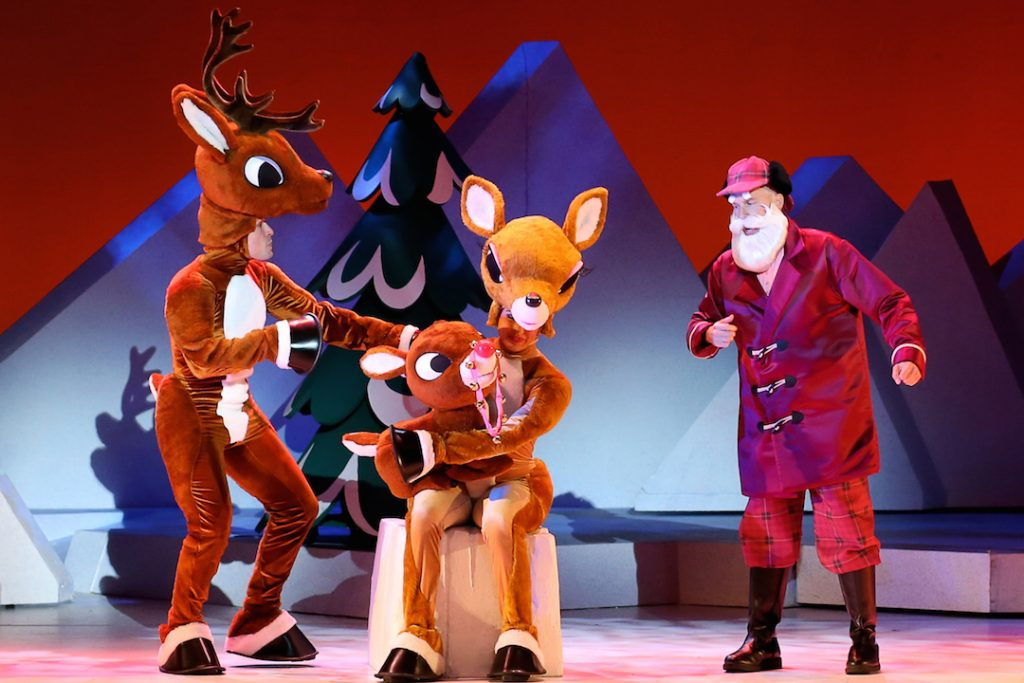 Rudolph Family and Santa in Rudolph the Red-Nosed Reindeer: The Musical