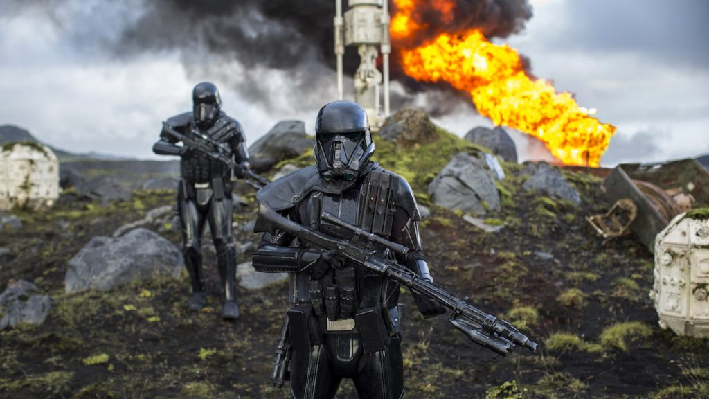 Action scene in Rogue One: A Star Wars Story