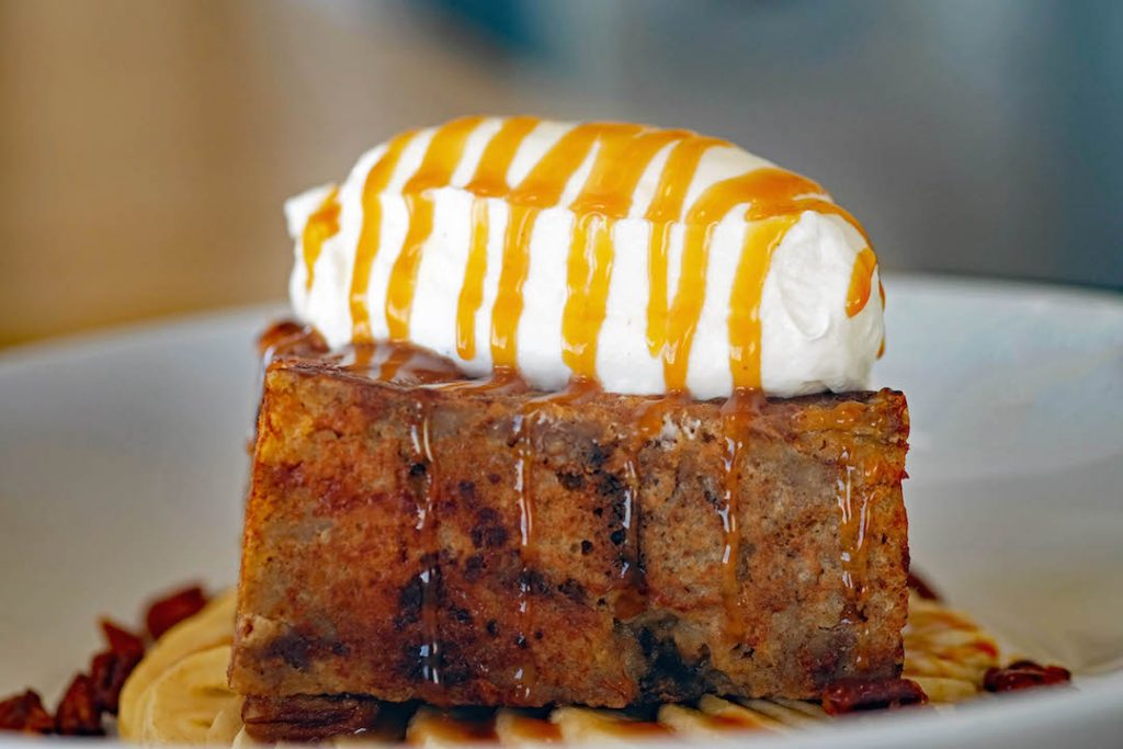 Banana Pecan Bread Pudding French Toast at The Lighthouse Cafe