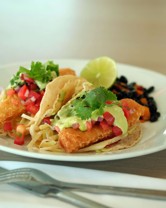 Crispy White Fish Tacos at The Lighthouse Cafe