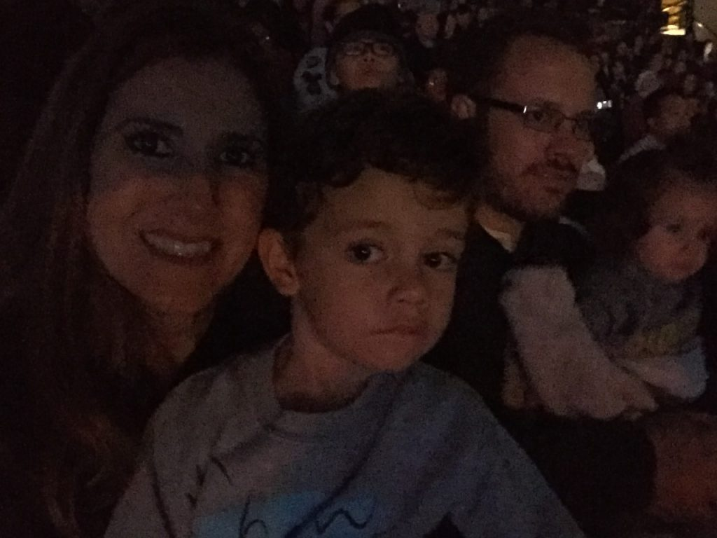 Jaclyn Holtz and Family at Disney on Ice Worlds of Enchantment