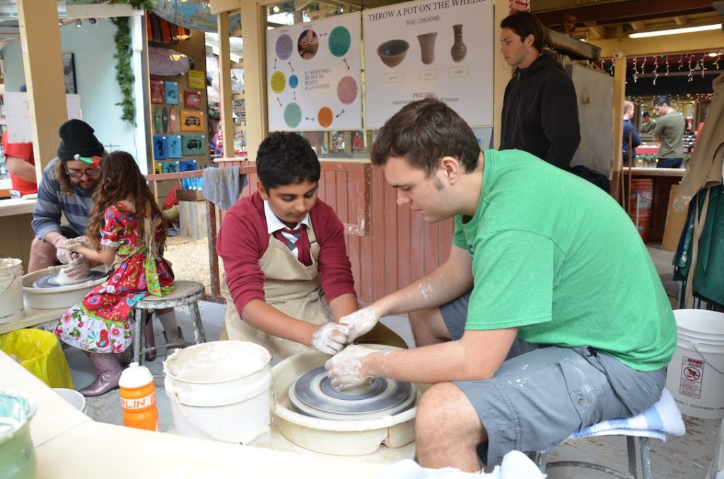 Learning the art of ceramics at the Sawdust Festival