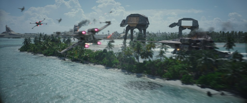 Rebel alliance fighting in Rogue One: A Star Wars Story