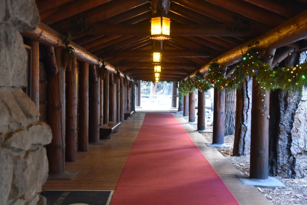 Red Carpet Entrance to the Majestic Yosemite Hotel