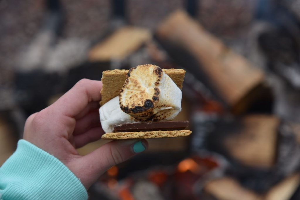 s'more at Tenaya Lodge