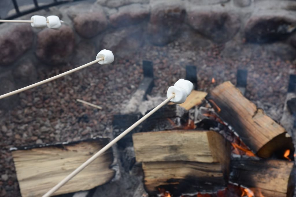 s'mores in Tenaya Lodge