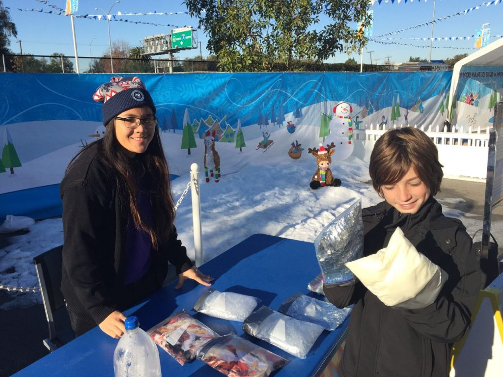 Snow learning at Discovery Cube OC #DCOCwinter