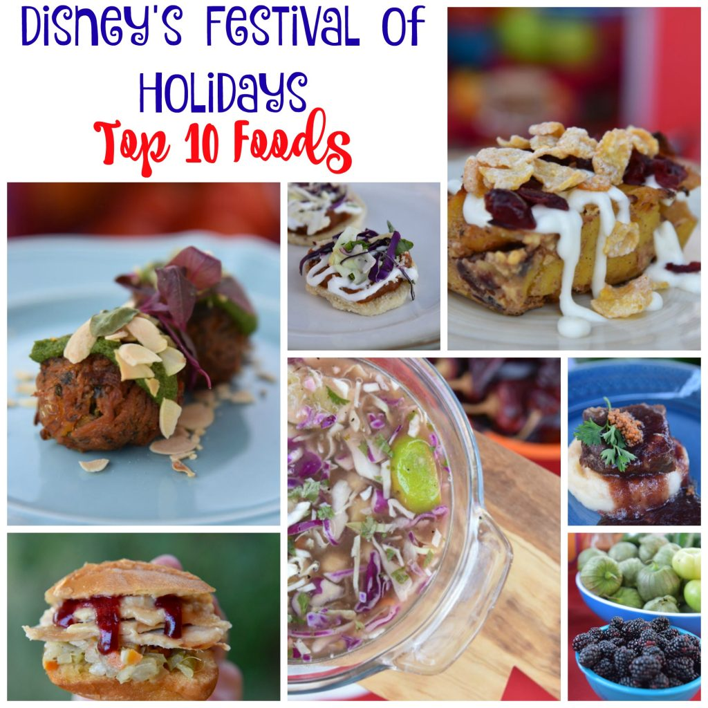 Top 10 Disney's Festival of Holidays Food Offerings