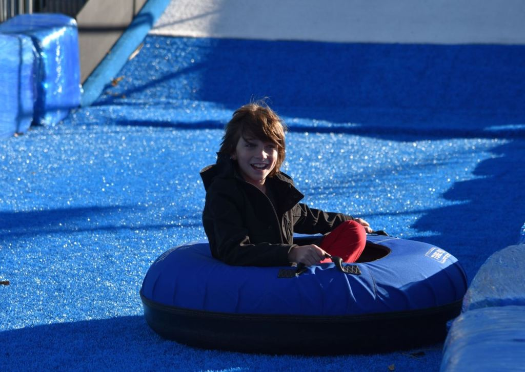 Tubing at Discovery Cube OC #DCOCwinter