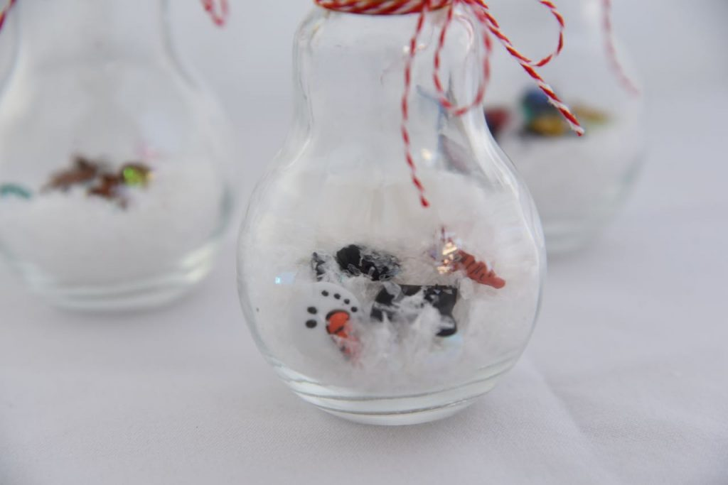 melted snowman in an ornament