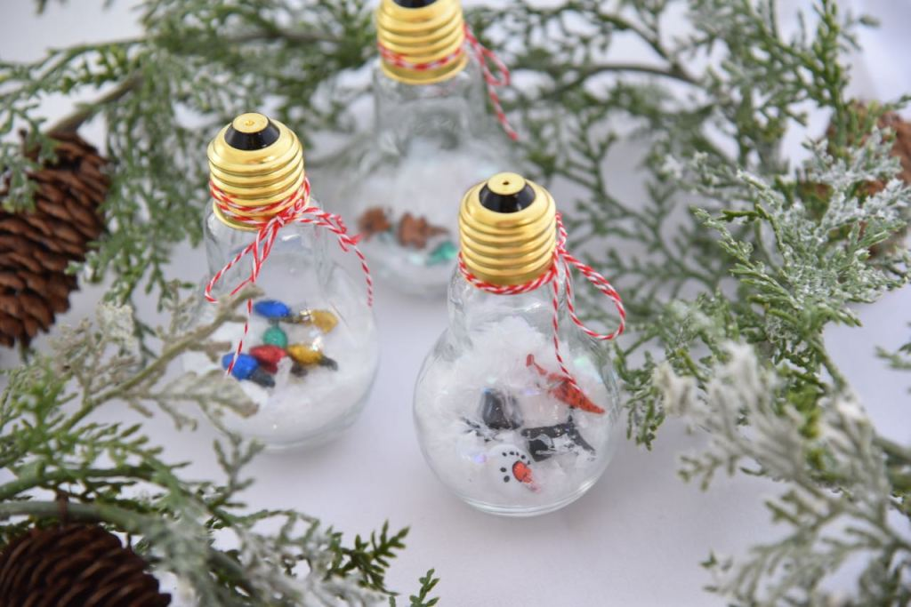 Snowman themed ornament craft