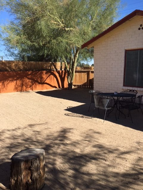 Backyard of West End Cottage at 29 Palms in Joshua Tree