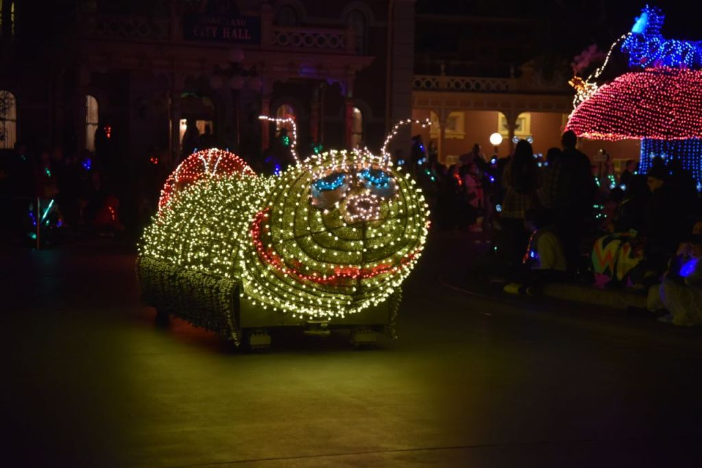 Caterpillar in the Main Street Electrical Parade Premiere at Disneyland