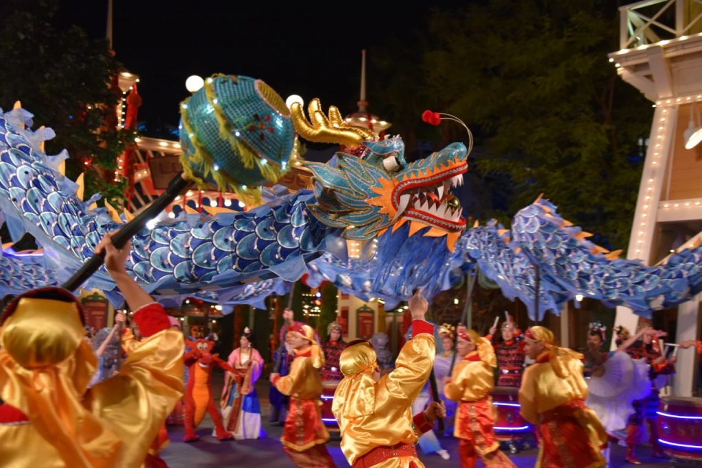 Chinese Dragon during Lunar New Year