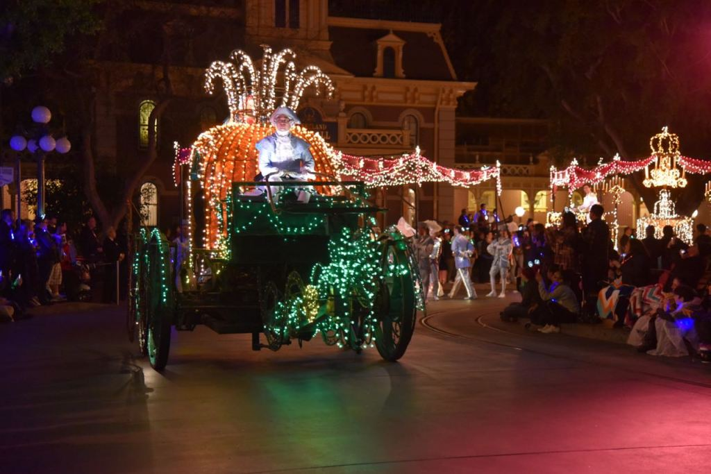 Cinderella in the Main Street Electrical Parade Premiere at Disneyland