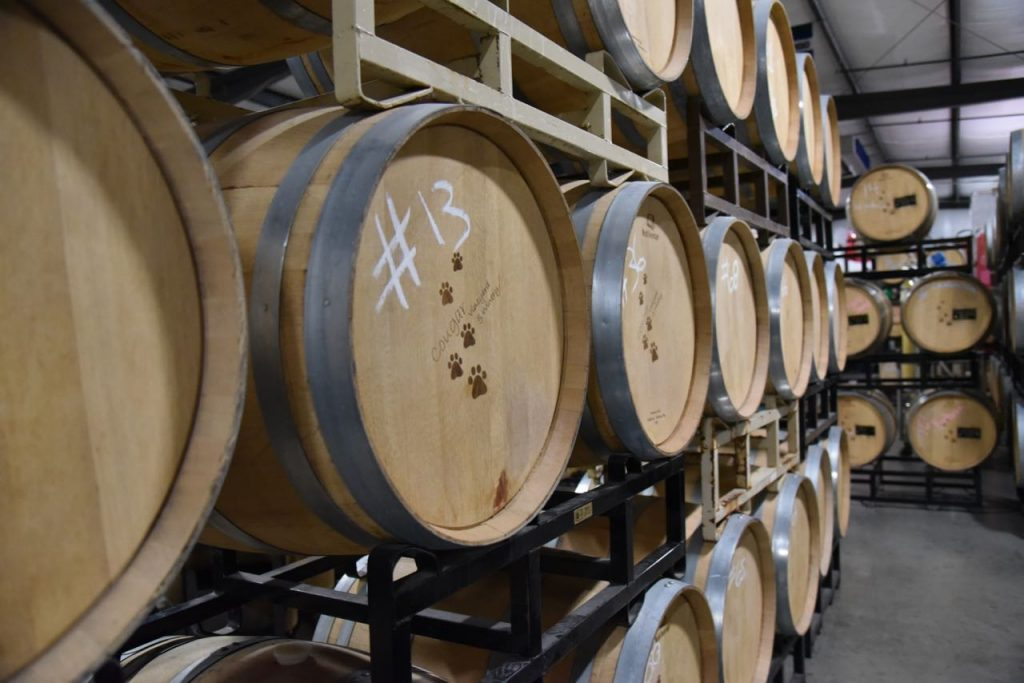 Cougar Winery in Temecula barrel room