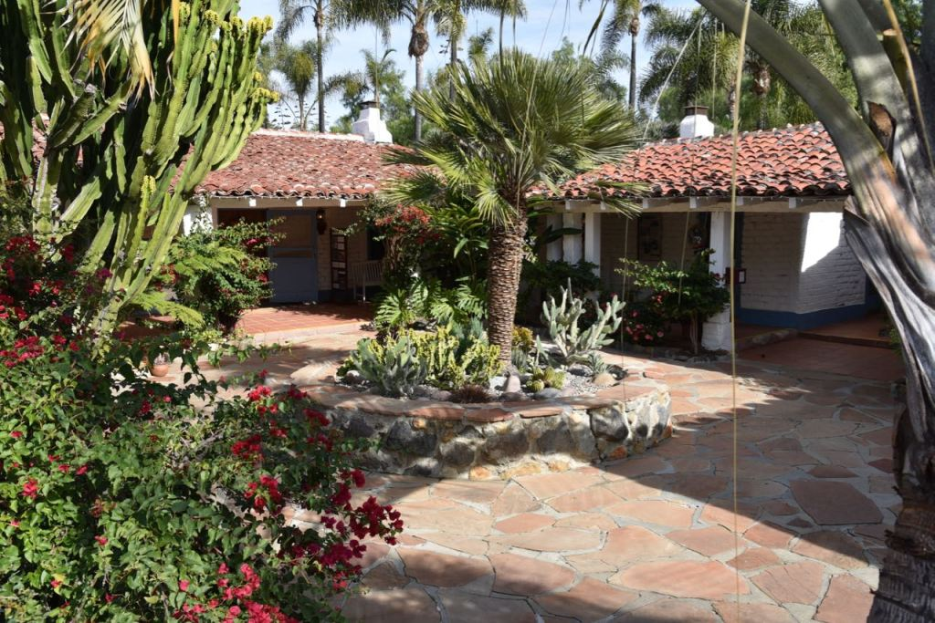 Courtyard to the house at Leo Carrillo Ranch