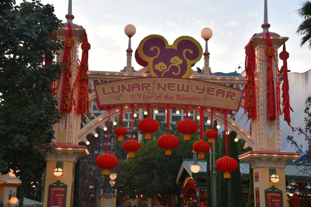 Entrance to the Lunar New Year at Disney California Adventure Park