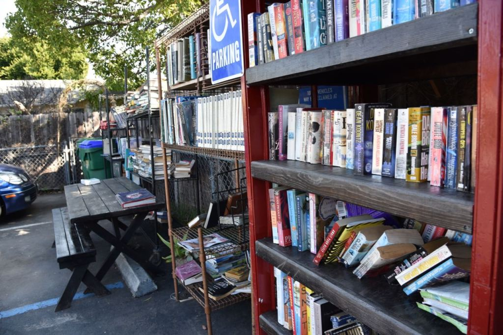 Free Library at Lhooq Bookstore