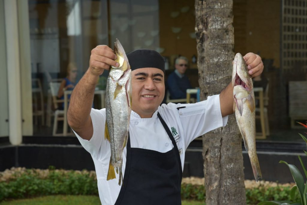 Fresh fish at Banyan Tree Mayakoba
