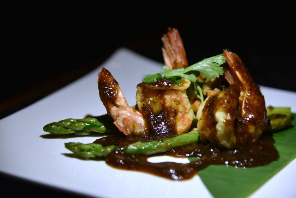 Goong Gratiem Prik at Saffron at Banyan Tree in Mayakoba
