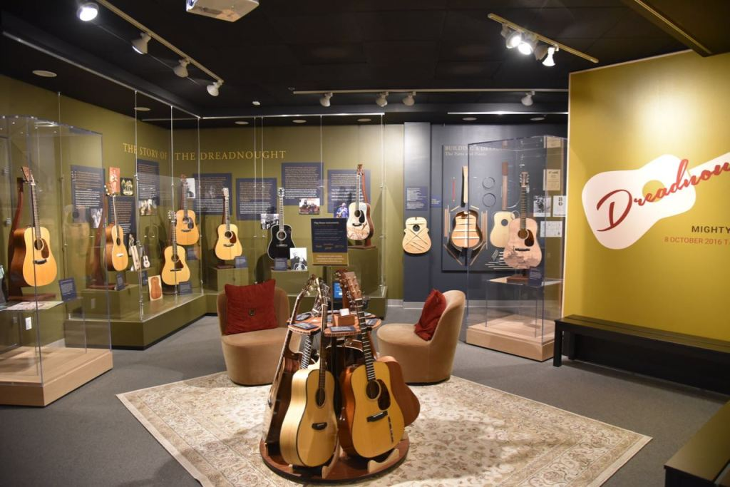 Guitar exhibit at the Museum of Making Music in Carlsbad