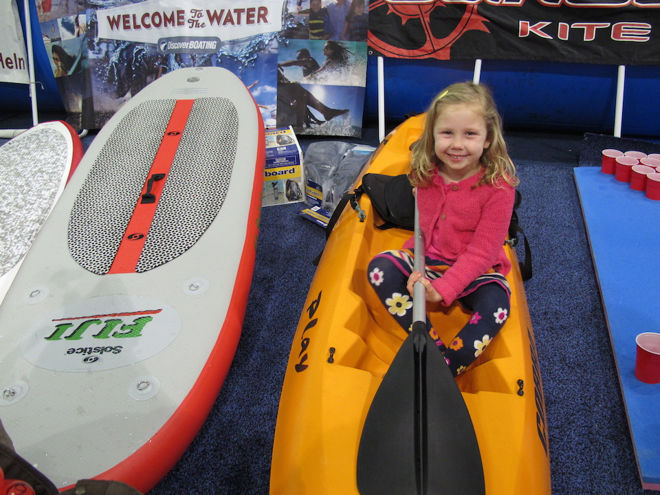Kayaking at the  Los Angels Boat Show