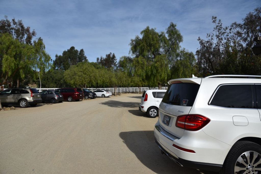 Parking lot at Leo Carrillo Ranch