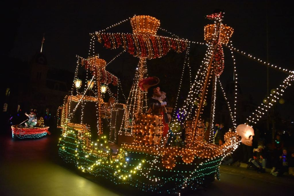 Peter Pan Pirate Ship in the Main Street Electrical Parade
