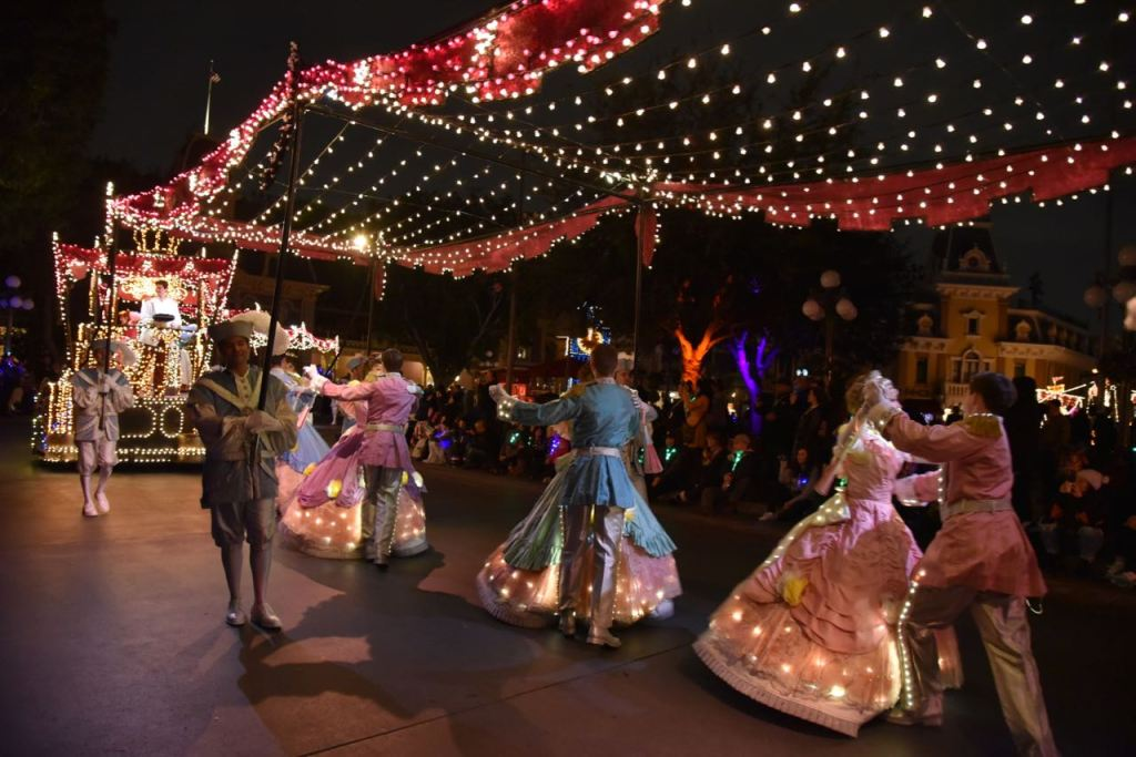 Princesses in the Main Street Electrical Parade Premiere at Disneyland