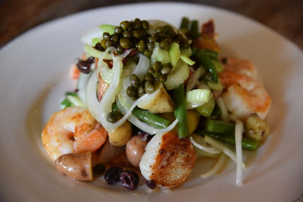 Scallops at The Farmhouse at Rogers Gardens