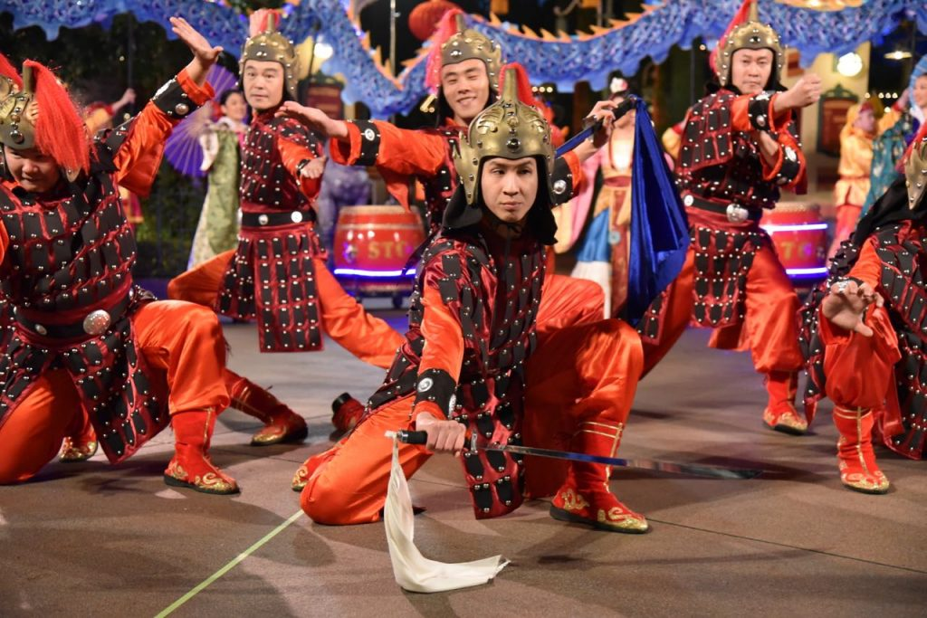 Sword flighters in the Mulan Lunar New Year Celebration