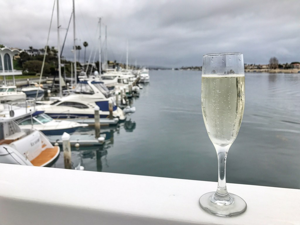 Champagne on a Hornblower Cruise