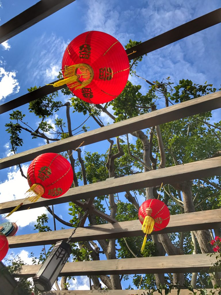 Chinese lanterns at the Universal Studios Hollywood Lunar New Year Celebration